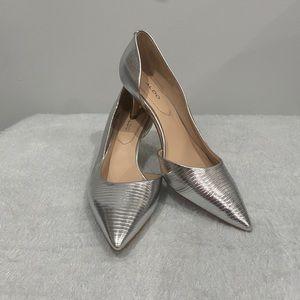 Aldo D'orsay kitten heel Silver metallicTexture 7